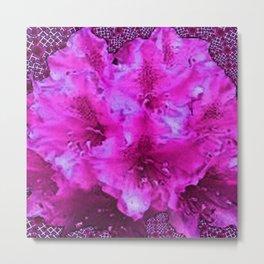 Fabulous Frilly Pink Fuchsia Garden Flowers  Art Metal Print