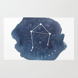 libra constellation zodiac Rug