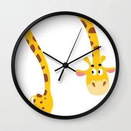 Tall Woodland Giraffe Wall Clock
