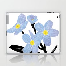 'I think of you Bernie' / Forget-me-not Laptop & iPad Skin