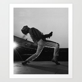 Freddi Mercury at Wembley Stadium Art Print