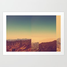 Mountains Clashed Art Print