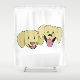 The Labs 2 Shower Curtain