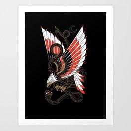 Americana - Eagle & Serpent Art Print