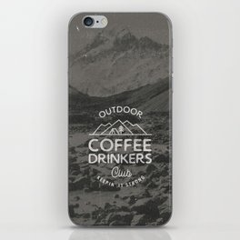 Outdoor Coffee Drinkers Club iPhone Skin