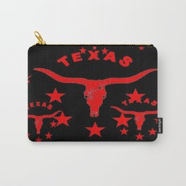 Texas Longhorn Logo Black & Red color art Carry-All Pouch