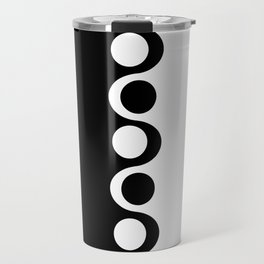 Black and White Mod Travel Mug