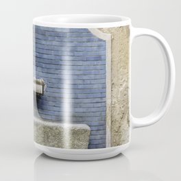 Blue water fountain in the center of Milan Coffee Mug