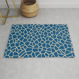 staklo (dark blue with coffee) Rug