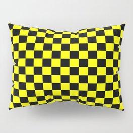 Yellow Black Checker Boxes Design Pillow Sham