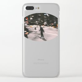Skate in street 4 Clear iPhone Case