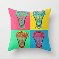 lacrosse Throw Pillows featuring Lacrosse BIG4 by YouGotThat.com