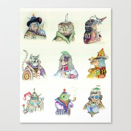 9 Characters Canvas Print