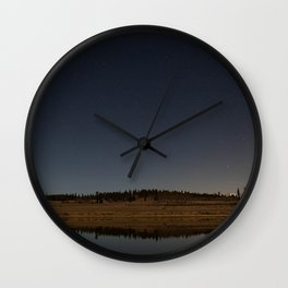 Night Sky in Color Wall Clock