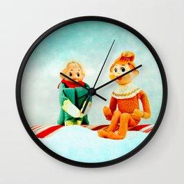Elf First Date Wall Clock