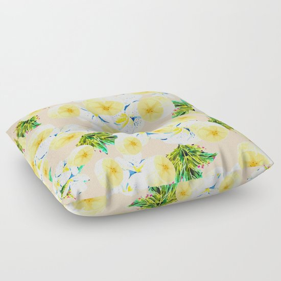 Exotic Floor Pillows : Pattern banana and exotic nature Floor Pillow by Mmartabc Society6