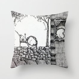 Impossibly Brave Throw Pillow
