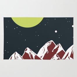 galactic mountains Rug