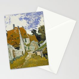 Vincent Van Gogh Street In Auvers-Sur-Oise Stationery Cards