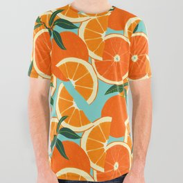 Orange Harvest - Blue All Over Graphic Tee