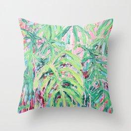 Bermuda Palms Throw Pillow
