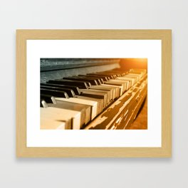 Old Piano Framed Art Print