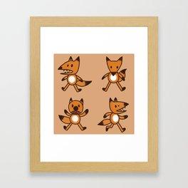 Stickimals - Foxxy Framed Art Print