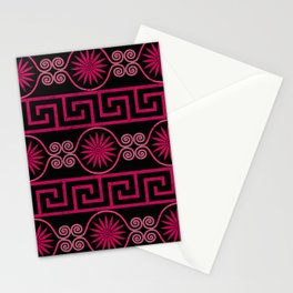 Ornate Greek Bands in Pink Stationery Cards