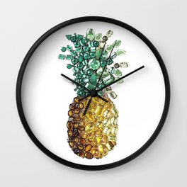 Pineapple by gems Wall Clock