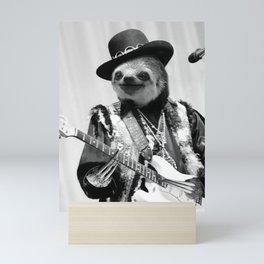 Rockstar Sloth #2 Mini Art Print