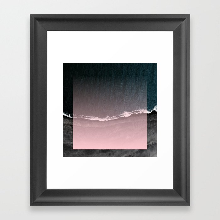 Fade into the sea Framed Art Print