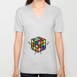 Rebel Rubik Unisex V-Neck