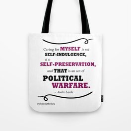 Audre Lorde: Caring for Self Tote Bag