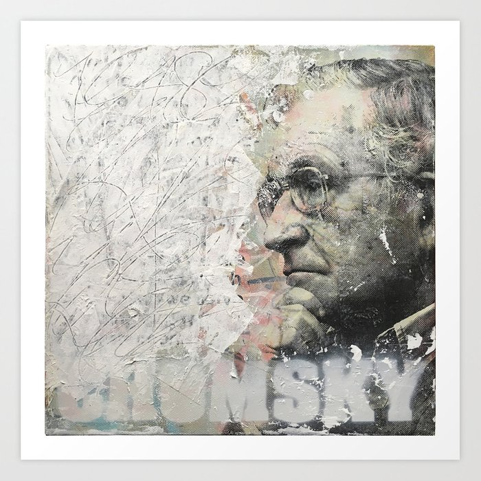 Chomsky Art Print