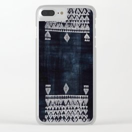 Arteresting V48 - Indigo Anthropologie Bohemien Traditional Moroccan Design Clear iPhone Case