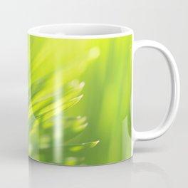 Palm tree leaves Tropical summer green yellow jungle Coffee Mug