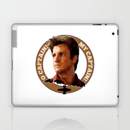 Cpt Malcolm Reynolds // Firefly // Nathan Fillion, Low Poly, Browncoats, Captain Tightpants Laptop & iPad Skin