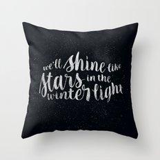 Shine like Stars - Winter Throw Pillow