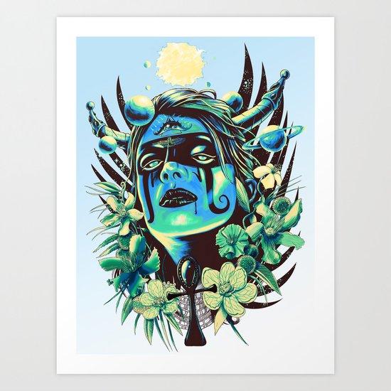 Hathor (Cool) Art Print
