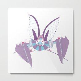 Robot Bat Metal Print