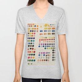 Artist Color Swatches - watercolor, prisma, paints Unisex V-Neck