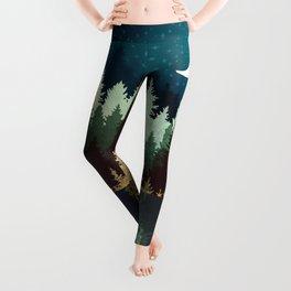 Star Forest Reflection Leggings