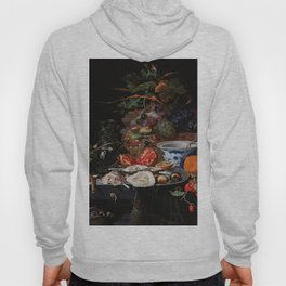 Abraham Mignon Fruits and oysters  (1660 - 1679). Hoody