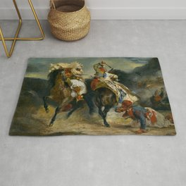 """Eugène Delacroix """"The Combat of the Giaour and Hassan"""" Rug"""