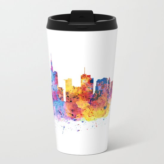 Frankfurt Skyline Metal Travel Mug