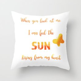 Sunny anniversary love quote Throw Pillow