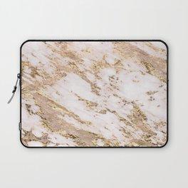 Golden smudge - blush marble Laptop Sleeve