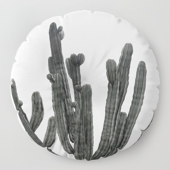 Black and White Cactus Floor Pillow