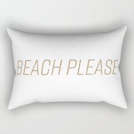 Beach Please! (Gold) Rectangular Pillow