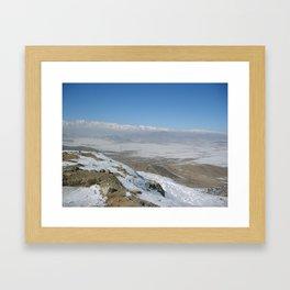 The plains to Bagram Framed Art Print